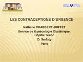 Les contraceptions d'urgence